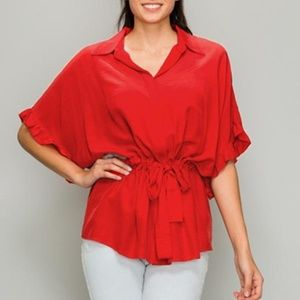Tops - Ruffle Sleeve Shirt
